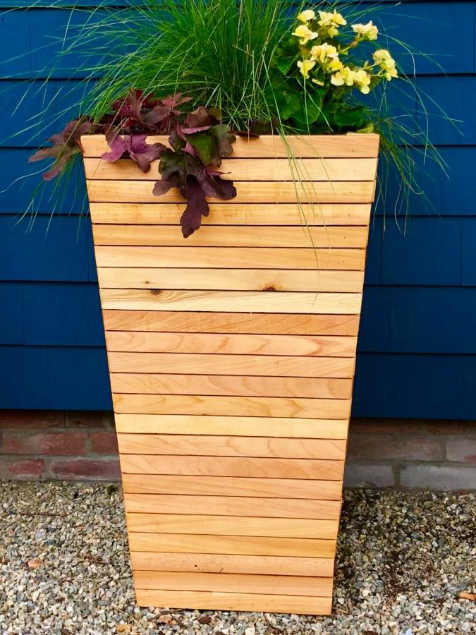 Modern Cedar Planters